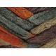 Knitting Fever Flounce-14 Brown, Orange, Burgundy