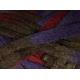 Knitting Fever Flounce-18 Purple, Burgundy, Brown