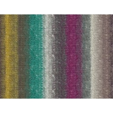 Noro Silk Garden Sock-S307 Natural, Purple, Teal, Yellow